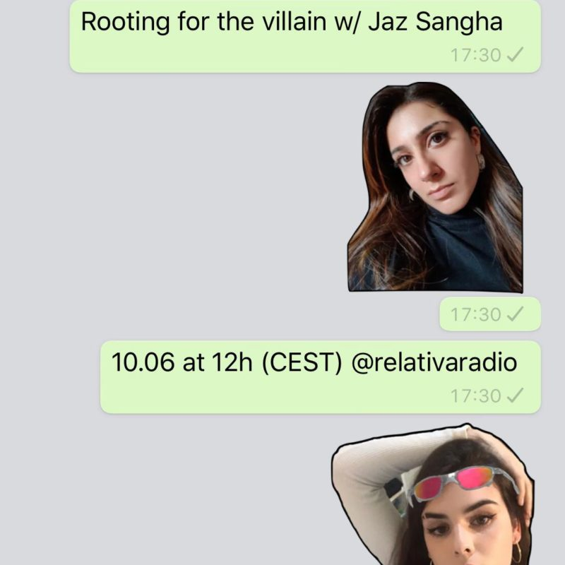 SPECT8OR: ROOTING FOR THE VILLAIN w/ Jaz Sangha show on Radio Relativa